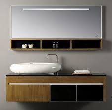 Solid Wood Bathroom Cabinet Real Wood Bathroom Furniture Bathroom Vanities 35 Rustic Brown