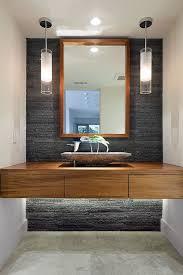 Modern Powder Room - bathroom tiles shower vanity mirror faucets sanitaryware