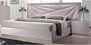 white lacquered leatherette bedroom 5pc set j u0026m