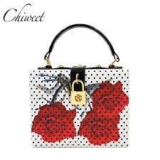 aliexpress com buy rose flower women evening bags designer