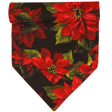 54 inch table runner holiday table runners poinsettia on black christmas table runner at