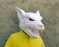 wolf rug spirit halloween make your own werewolf mask papercraft werewolf halloween