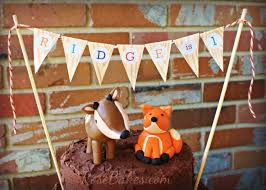 woodland animals camping birthday cake rose bakes
