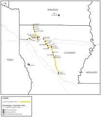 Map Louisiana by Louisiana Southern Railroad Las Watco Companies