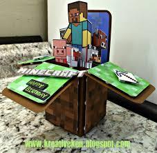 Minecraft Invitation Cards Ken U0027s Kreations Minecraft Birthday Card It U0027s In The Cards