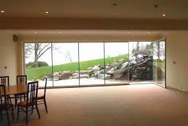 Glass Bifold Doors Exterior Decor Frameless Clear Glass Bifold Doors For Comfortable Exterior