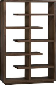Mirror Room Divider by Mirror Room Dividers 3 This Bookcase Elevate Walnut 68 In Crate