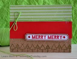 merry merry card technique tuesday