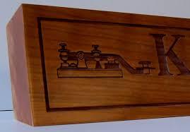 Custom Desk Plaque Ham I Am Callsigns Custom Laser Engraved Wood And Acrylic Desk