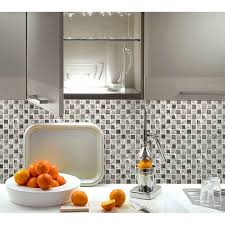 Silver Glass Tile Backsplash Ideas Bathroom Mosaic Tiles Cheap - Square tile backsplash