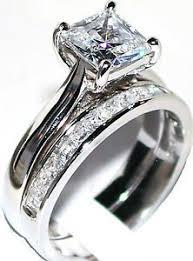 princess cut wedding set princess cut diamond engagement ring wedding band set sterling