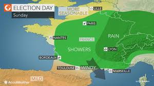 Marseilles France Map by Lingering Rain To Put A Damper On France U0027s Presidential Election