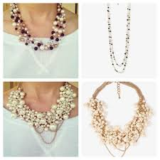 pearl bib statement necklace images Chunky pearl bib necklace images jpg