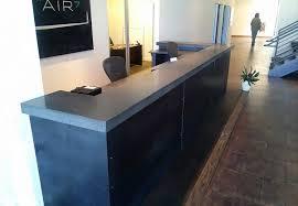Concrete Reception Desk Counters Ernsdorf Design Concrete Fire Pit Bowls Furniture