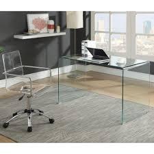 Glass Desk Office Coaster Contemporary Glass Desk Coaster Furniture