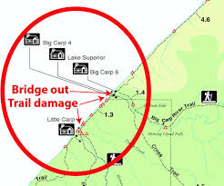 Upper Peninsula Michigan Map by Flooding Damages Trails Washes Out Bridge At U P State Park