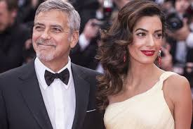 is amal clooney hair one length george clooney says pregnant wife amal is amazing and doing great