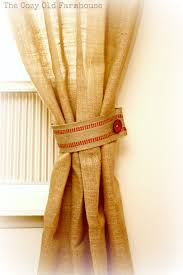 Colored Burlap Curtains The Cozy Old