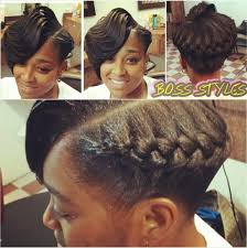black hair goddess style ridges with a goddess braid interesting style shared by tomeka
