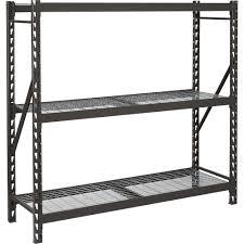 3 Shelf Wire Rack Furniture Modern Silver Edsal Shelving With Two Glass Rack Design