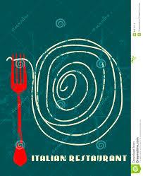 menu design italian restaurant stock vector image 33475714
