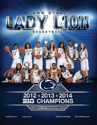 2014 15 penn state lady lion basketball yearbook by penn state