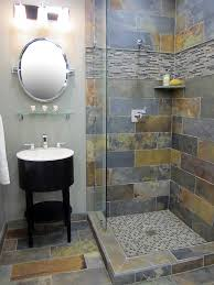 slate tile bathroom ideas rustic slate and glass shower bath time shower