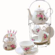 teapot set teapots and cups and saucers painted pink flower cups and