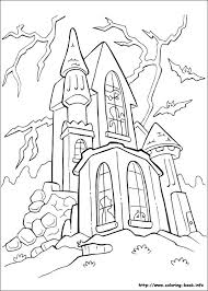 Get The Coloring Page Haunted House Halloween Coloring Page The Color Page