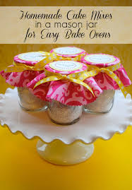 home made easy bake oven cake mix u0026 mason jar packaging easy