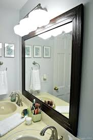 Bathroom Mirror Frames Kits Bathroom Mirror Framing Innovation Idea How To Frame Out A