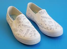 Shoe Home Decor The Gallery For Diy Canvas Shoe Designs Blank Shoes Loversiq