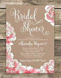 bridal lunch invitations printed bridal shower invitation pink peony floral