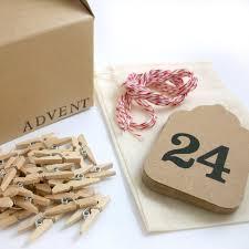 farmhouse advent calendar garland kit kraft u0026 red baker u0027s twine