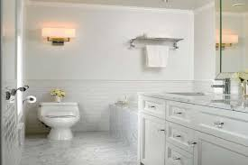 White Subway Tile Shower  Elegant White Subway Tile Bathroom - Bathrooms with white tile