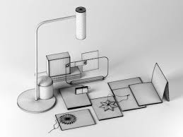 White Desk Accessories by Accessories With Table Lamp