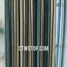 Blue And Striped Curtains Stylish Living Room Teal Beige Blue Striped Curtains