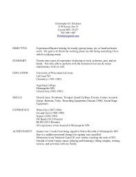 Musical Resume Template Musician Resume Examples Child Actor Resume Msbiodiesel Us