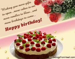 birthday greeting with birthday wish cake and flowers