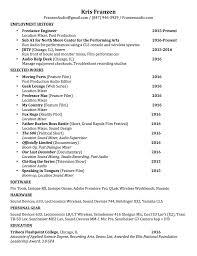 Job Based Resume by Resume For Film Internship Resume For Your Job Application