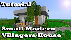 minecraft tutorial of small modern villagers house youtube