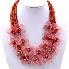 trendy flower necklace images 2017 trendy fashion 2018 new handmade red cherry quartzs flower jpg