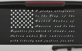 pledge of allegiance thin blue line law enforcement