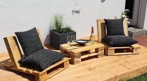 canapé de jardin en palette design exterieur salon jardin palette table basse fauteuil jardin