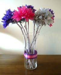 Flower Vases Centerpieces My Diy Tissue Paper Flower Wedding Centerpieces My Girlish Whims