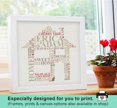 New House Gift Printable File New Home Housewarming Gift Personalised Word
