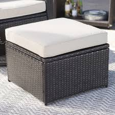 Wicker Storage Ottoman Coffee Table Coral Coast Berea Outdoor Wicker Storage Ottoman Hayneedle