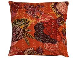 buy orange cushion covers home decor items quilts and covers online