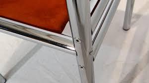 Esszimmerst Le Leder Chrom Mid Century Esszimmerstühle Aus Verchromten Rohrgestell U0026 Leder