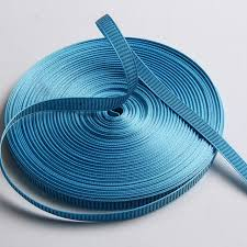 thick ribbon high quality 12mm ribbon 1mm thick blue black color in